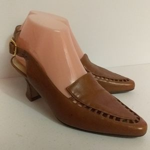 Bally Briana Leather Sling Back Heels size 7.5